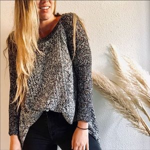 ANTHROPOLOGIE LeifNotes Two Tone Lace Sweater M